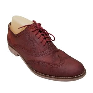 Cole Haan ALISA Red Dress Shoes Wing Tip 10.5B